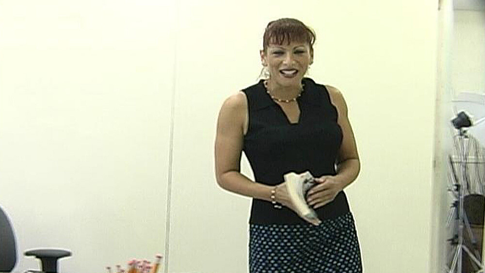 MILF Carol fucking in the classroom with her small tits