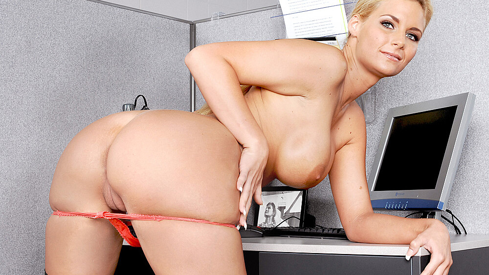 Phoenix Marie fucking in the office with her tits