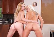 Ally Ann & Eden Adams & Billy Glide in 2 Chicks Same Time
