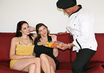 Watch Gianna Michaels & Sara Stone & Marco Banderas in 2 Chicks Same Time