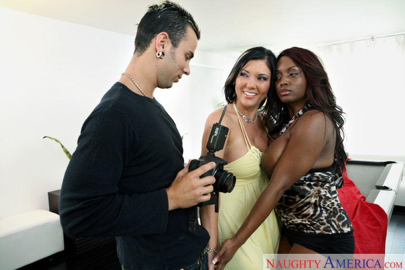 Porn star Jada Fire & Claire Dames getting ready