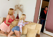 Lexi Belle, Krissy Lynn & Mick Blue in 2 Chicks Same Time - Sex Position 1