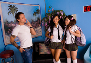 Kaiya Lynn, Gianna Lynn & Kurt Lockwood in Asian 1 on 1 - Sex Position 1