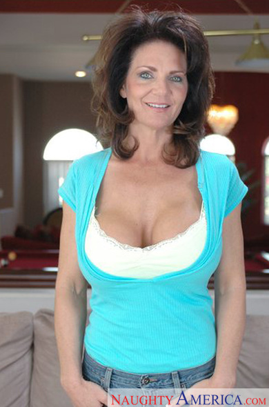 Naughty MILF with shapely boobs Deauxma takes off underwear  344554