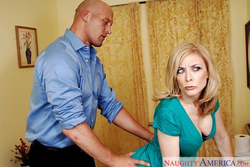 Porn star Mrs. Hartley getting ready