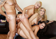 Allie Haze, Amanda Tate, Aaliyah Love & Steven St. Croix in I Have a Wife - Sex Position 2