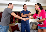 Eva Angelina, Alec Knight & Tony DeSergio in I Have a Wife - Sex Position 1