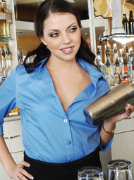 Bartender Porn Video with Blow Job and Brunette scenes
