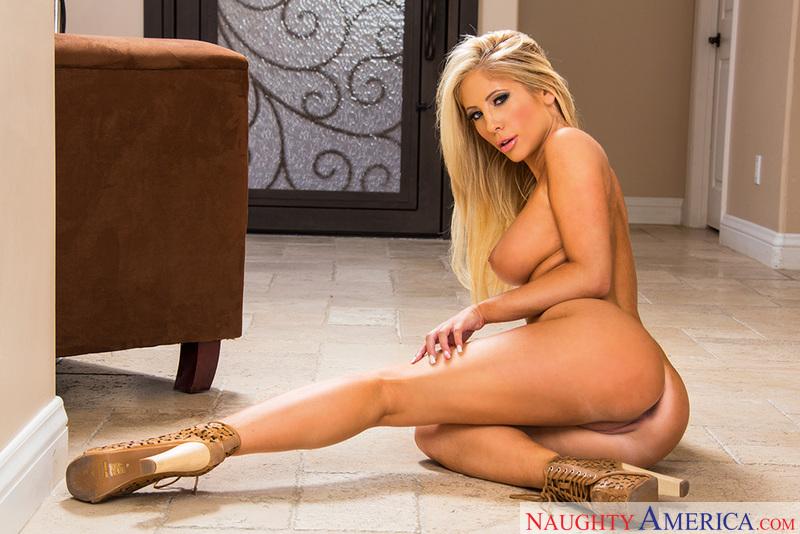 Porn star Tasha Reign getting ready