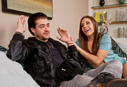 Gracie Glam & Xander Corvus in My Dad's Hot Girlfriend - Sex Position 1
