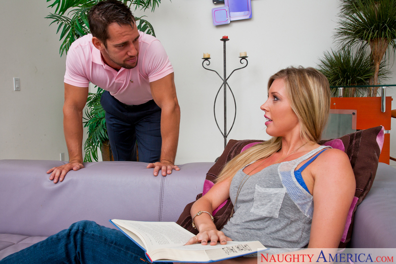 Porn star Samantha Saint getting ready