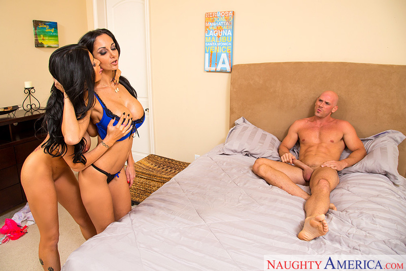 Porn star Ava Addams & Romi Rain getting ready