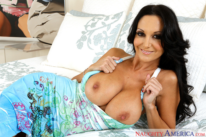 Porn star Ava Addams getting ready