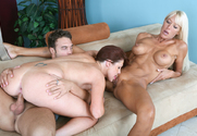 Bianca Noble & Shayne Ryder & Rocco Reed in My Friend's Hot Mom sex pic