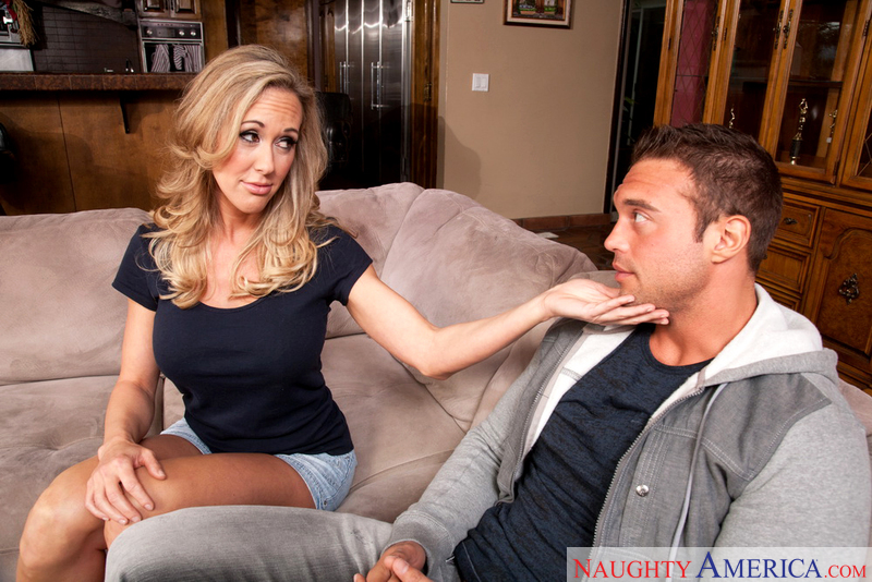 Porn star Brandi Love getting ready