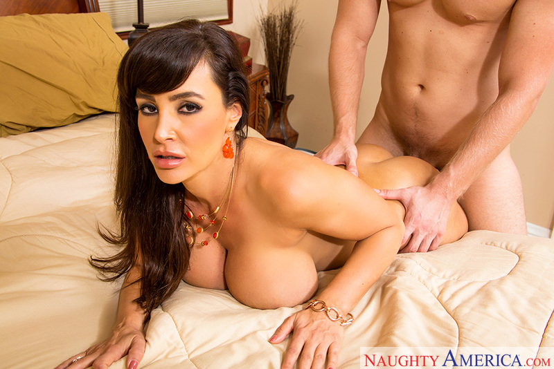 Porn star Lisa Ann getting ready