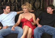 Mia Ivanova & Kris Slater & Trent Soluri in My Friend's Hot Mom story pic