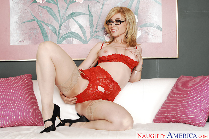 Porn star Nina Hartley getting ready