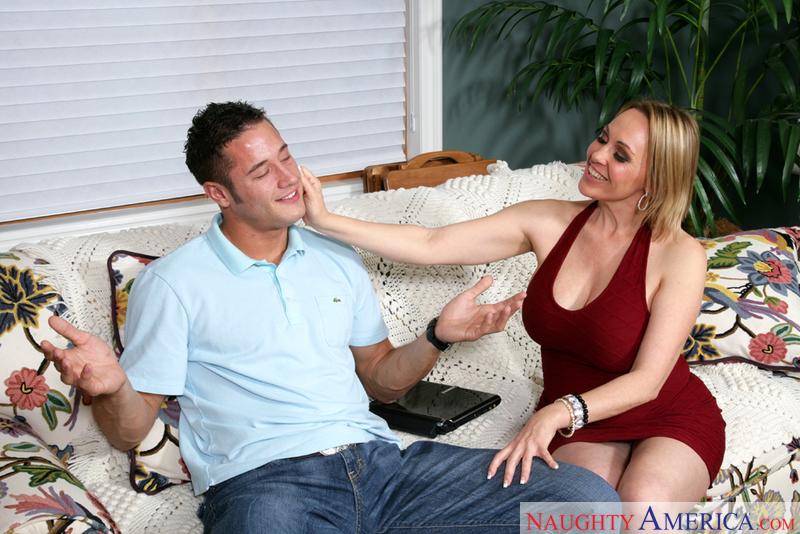 Porn star Raquel Sieb getting ready
