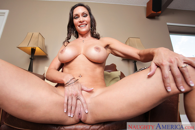 Porn star Raven LeChance getting ready