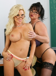 Diamond Foxxx, Indianna Jaymes & Danny Mountain in My First Sex Teacher - Centerfold