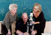 Mrs. Jewell & Erica Lauren & Christian in My First Sex Teacher story pic