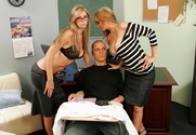 Brooke Banner, Julia Ann & Justice Young in My First Sex Teacher - Sex Position 1