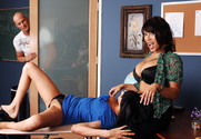 Ava Devine, Kayden Faye & Christian in My First Sex Teacher - Sex Position 1