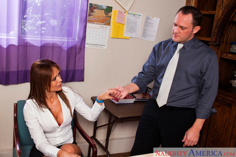 Porn star Monique Fuentes getting ready