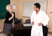 Mrs. Jewell & Alan Stafford in My First Sex Teacher - Sex Position 1