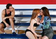 Raquel DeVine, Dani Jensen & Talon in My First Sex Teacher - Sex Position 1