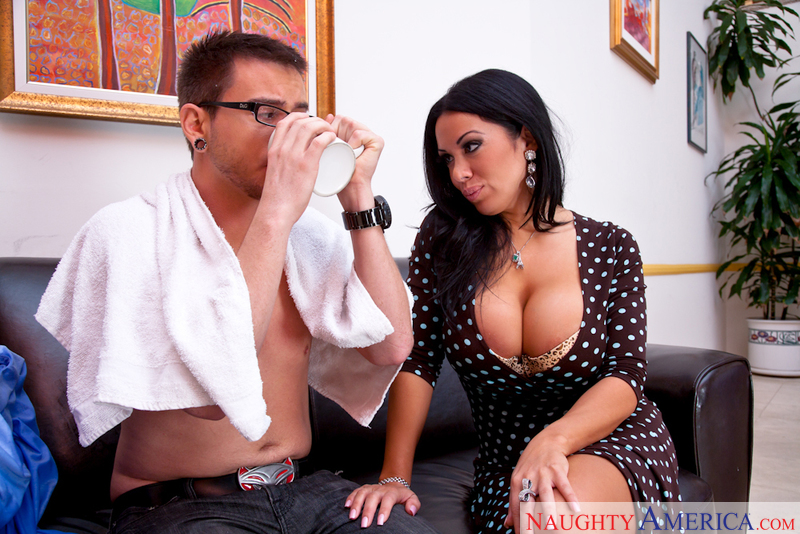 Porn star Sienna West getting ready