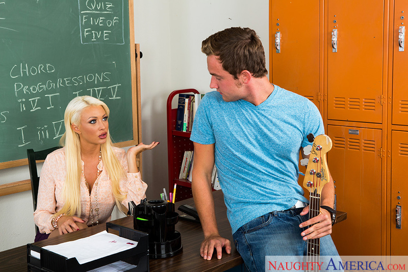 Porn star Summer Brielle getting ready
