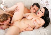 Noelle Easton, Brooke Wylde & Ryan Driller in My Girlfriend's Busty Friend - Sex Position 2
