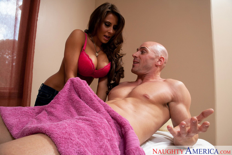 Porn star Madison Ivy getting ready