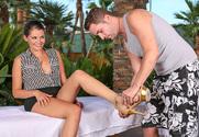 Allie Haze & Kris Slater in My Naughty Massage - Sex Position 1