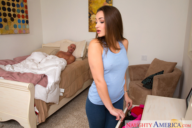 Porn star Dani Daniels getting ready