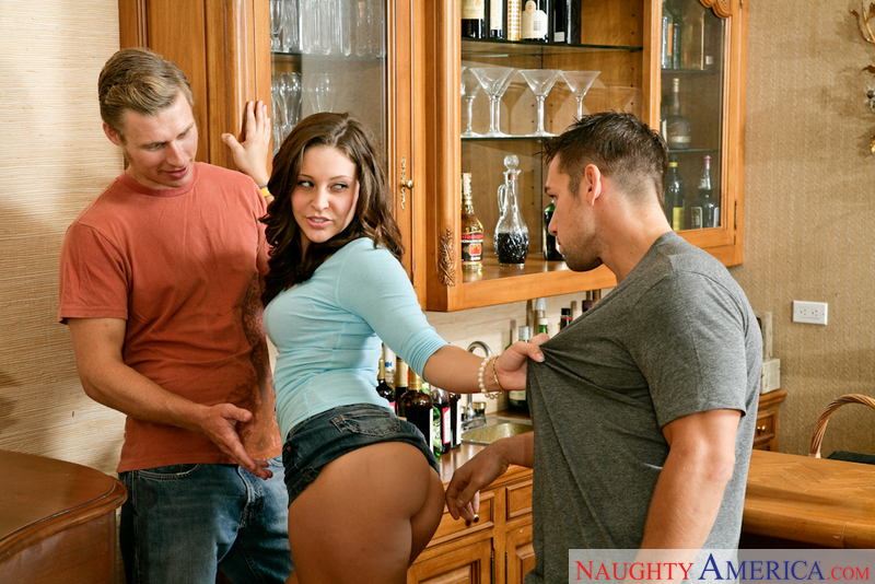 Porn star Gracie Glam getting ready