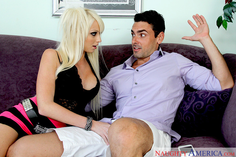 Porn star Rikki Six getting ready