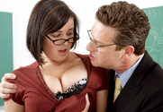 Brooke Lee Adams & Otto Bauer in Naughty Bookworms - Sex Position 1