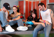 Victoria Sin, Roxy Deville, Alex Gonz & Tommy Pistol in Naughty Flipside - Sex Position 1