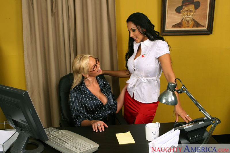Porn star Abbey Brooks and Nina Mercedez getting ready