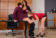 Darla Crane & Syren De Mer & Seth Gamble in Naughty Office sex pic