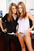 Lyndsey Love starring in Bossporn videos with Brunette and Petite