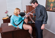 Mellanie Monroe & Charles Dera in Naughty Office - Sex Position 1