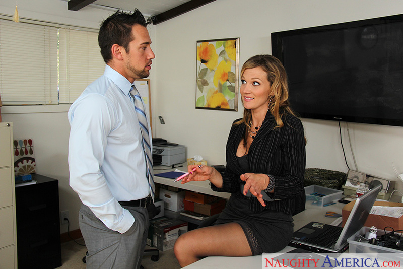 Porn star Nikki Sexx getting ready