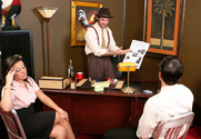 Aiden Starr & Penny Flame & Alan Stafford & Charles Dera & Herschel Savage in Naughty Office story pic