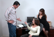 Penny Flame, Ava Devine & Billy Glide in Naughty Office - Sex Position 1
