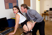Valentina Nappi & Ryan Mclane in Naughty Office - Sex Position 1