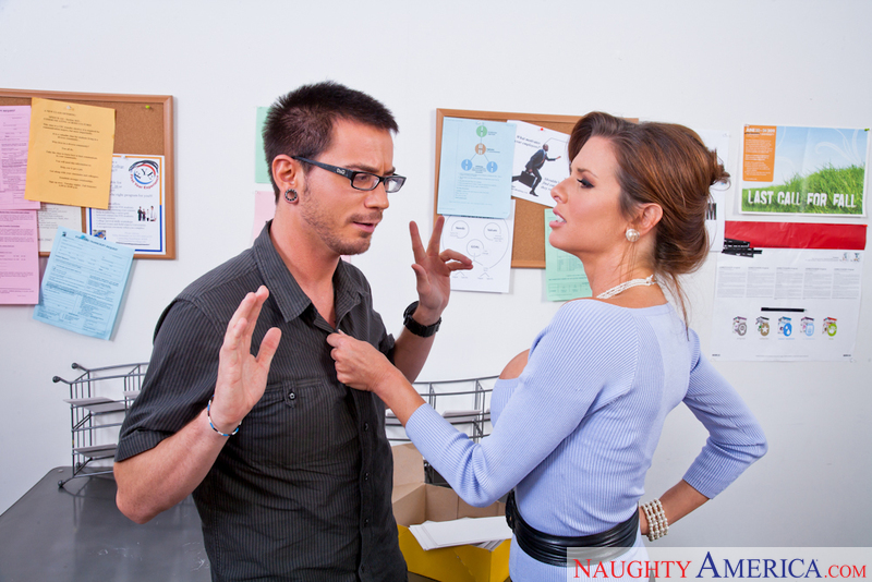 Porn star Veronica Avluv getting ready